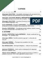 11 LITUA Studii Si Cercetari 2006 XI Cuprins