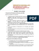 Crisis Energética en El Perú- I Foro Energético Nacional 2013