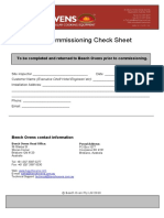 Pre-Commissioning Check sheet
