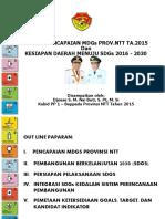 Capaian Mgds 2015 Dan Rakor Sdgs Kab Belu