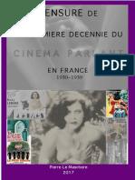 CENSURE DE LA PREMIÈRE DÉCENNIE DU CINEMAPARLANT EN FRANCE