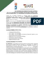 Convenio Entre Iestp Jcm y Uasf 2017