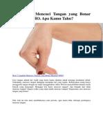 7 Langkah Mencuci Tangan Yang Benar Menurut WHO