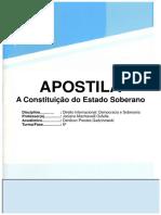 Direito Internacional - Apostila - A Constituição Do Estado Soberano