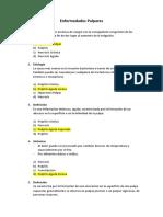 Enfermedades Pulpares Preguntas Cario 28-06-2016