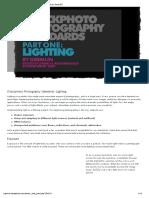 La Iluminación en fotografía
