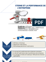 Audit Externe Et Performance de l'Ese