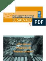 Presentaci n Programa Pobreza Urbana El Salvador