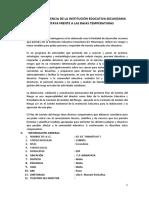 Plan de Contingencia de La Institución Educativa Secundaria Jec Ninantaya Frente a Las Bajas Temperaturas