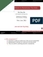 Nonparametric Methods for Nonstationary Times Serie