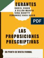 Las Proposiciones Prescriptivas