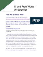 Free Will and Free Won