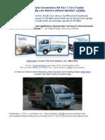 Electric Truck Conversion Kit