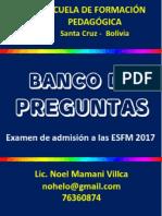 Banco de Preguntas - Esfm - 2018