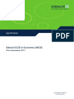 IGCSE2009 Economics (4EC0) Specification