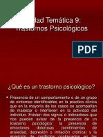 URP Unidad Tem Tica 9 Trastornos Psicologicos