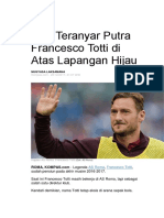 Aksi Teranyar Putra Francesco Totti di Atas Lapangan Hijau.docx