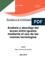 Analisis y Abordaje Del Maltrato Entre Iguales