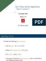 EC319 Lecture 7