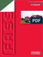 Material Especificaciones Tecnicas Grua Articulada f1500axp Fassi Tabla Pesos Capacidades Elevacion Angulos Brazo