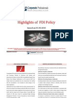 Corporate Professionals-Highlights of FDI-10.04.2010