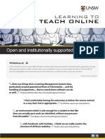 Open and Institutionally Supported Technologies