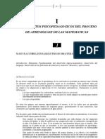 Fundamentos Psicopedagogicos Del Proceso de Aprendizaje de Las Matemáticas