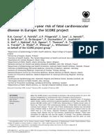 Evaluarea SCORE Risc Cardiovascular