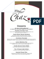 Chaz on the Plaza Dessert Menu