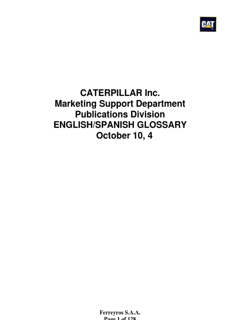 Caterpillar Dictionary