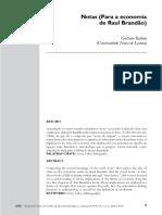 Notas (para a economia de Raul Brandão)  Gustavo Rubim
