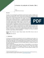 Comparación de las funciones de producción para EEUU, Chile y Ecuador