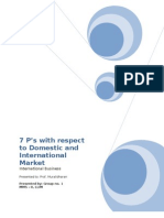 7ps of International Marketing With Ref to Domestic & International Markets