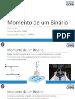 Aula 19 - Momento de um Binário.pdf