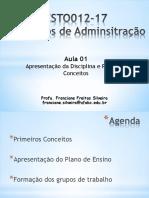 Aula 01 Conceitos+Preliminares e Papel do Gerente