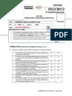 Examen Final Formulación y Evaluación de Proyectos 2017-2 Tipo A