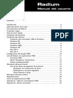 Radium 49 Manual de Usuario