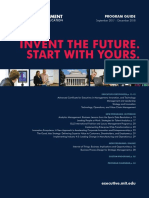 Mit Sloan Executive Education 2018 Program Guide