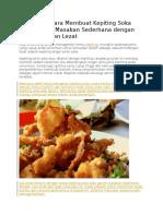 Resep Dan Cara Membuat Kepiting Soka Lada Garam Masakan Sederhana Dengan Rasa Enak Dan Lezat