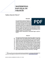 El Regimen Matrimonial De Comunidad Legal En El Derecho Frances