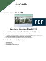 Sistem Pengolahan Air (SPA)