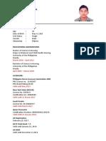 Format CV 2017