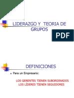 Taller de Liderazgo y Teoria de Grupos