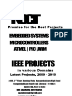 IEEE Embedded IEEE Project Titles 2009 2010 NCCT Final Year Projects