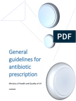 General Guidelines for Antibiotic Prescription