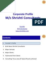 Corporate Profile - Shrishti Consultants 20