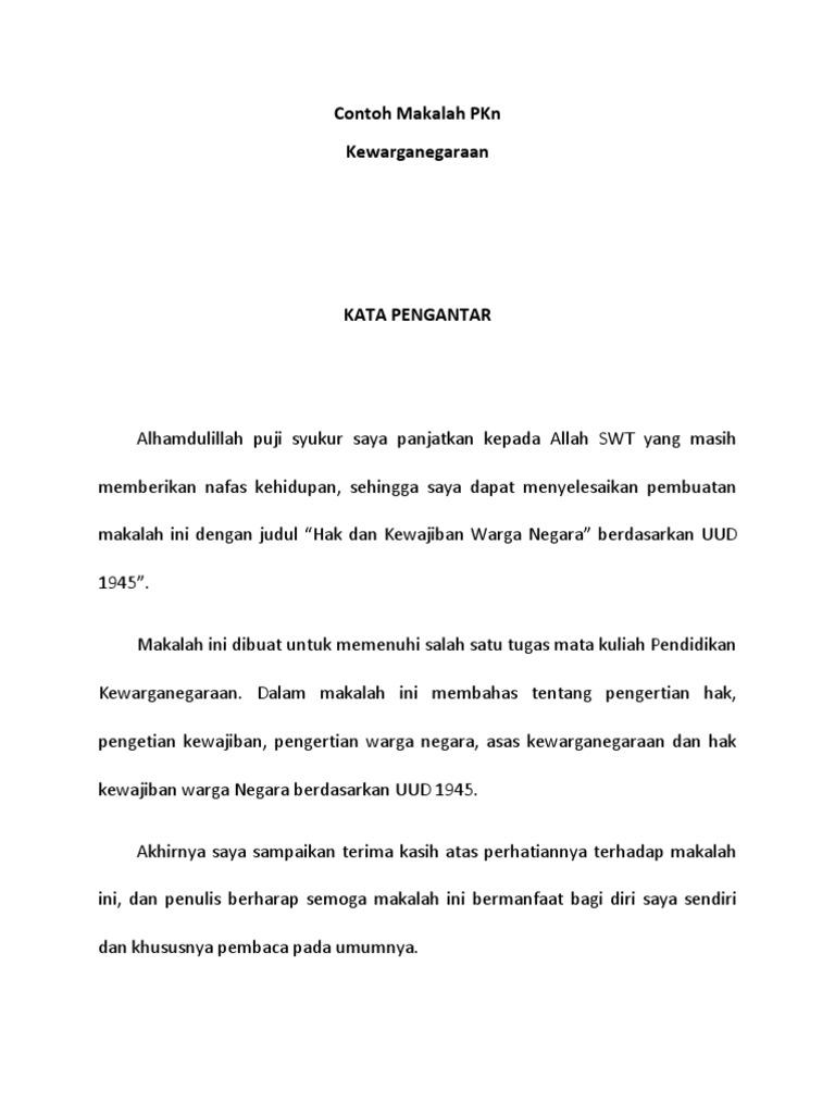 Contoh Makalah Pkn Docx