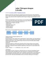 Penentuan Kadar Nitrogen Dengan Metode