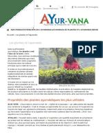 Les Plantes Et l'Ayurveda
