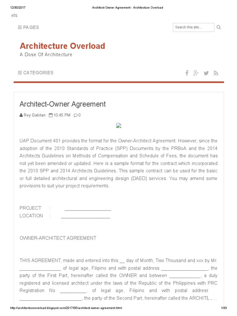 Architect owner agreement architecture overload architect architect owner agreement architecture overload architect construction bidding platinumwayz